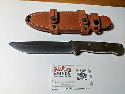 Bark River Knives Bravo 1.5 LT CPM 3V. Green Canvas Micarta Handles