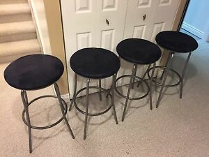 4 high quality  rotating bar stools  ( only 2 left )