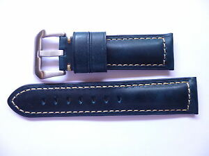 24mm-Watch-Strap-Band-with-buckle-24-22mm-Blue-Leather-Panerai-Style