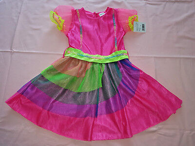 Regenbogen Kostüm (Regenbogenfee Einhorn-Prinzessin Kostüm Kleid Gr. 110/116 - 122/128 - 134/140)
