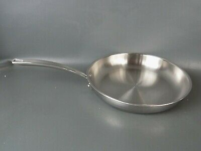 """Kirkland Signature 12"""" Fry Pan Skillet 5-ply Clad Copper Ring Stainless Used"""