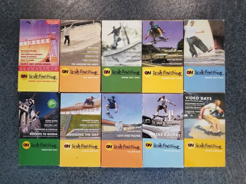 RARE Complete On Video Skateboard Magazine VHS Set Thrasher Skate Thrasher 411