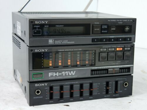 Vintage Sony FH-11W Micro System Stereo Amplifier Tuner TA-118W ST-118 - Funct.