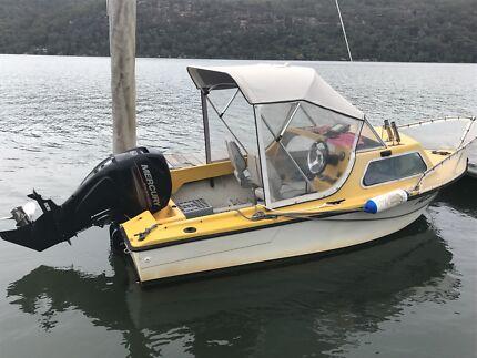 Half cabin boat - Mercury 60hp Command Thrust still with warranty
