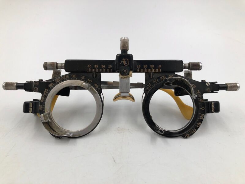 American Optical Optometrist Tool Trial Eyeglass Spectacle Frames VTG Steampunk