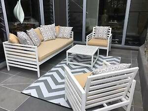 Outdoor Sofa with Arm Chairs and 2 tables Sunrise Beach Noosa Area Preview