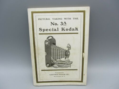 1911 Kodak No.3a Special Folding Camera Instruction Manual 66 Pages
