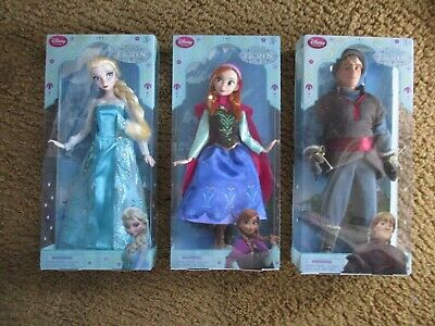 AUTHENTIC DISNEY STORE FROZEN ELSA, ANNA & KRISTOFF 12