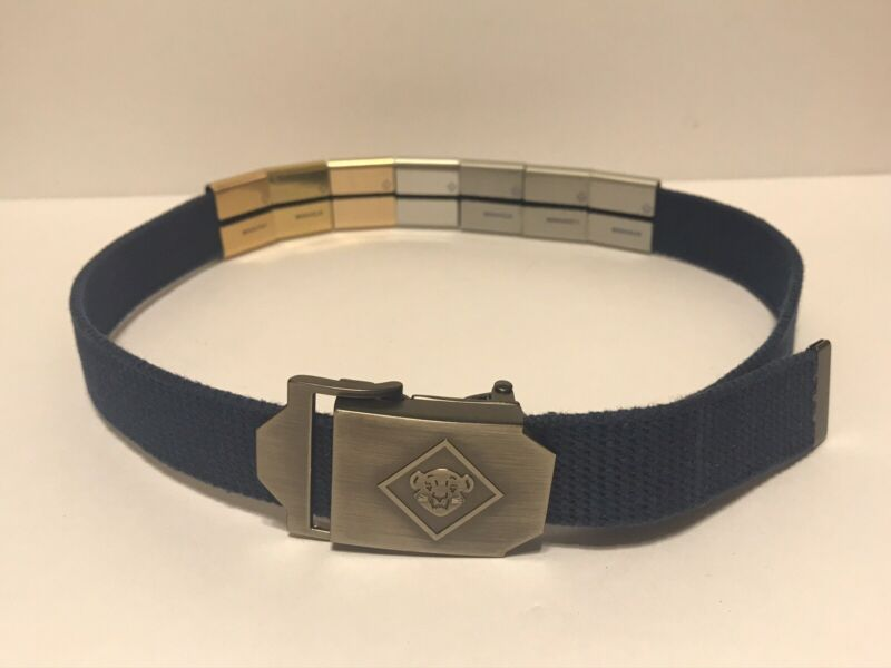 Cub Scout Web Belt with Bobcat Buckle and 7 Merit Skill Award Slides BSA