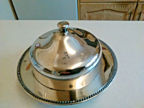 Vintage Reed & Barton Silver Plated Butter Dish with Lid - Worn (3204)