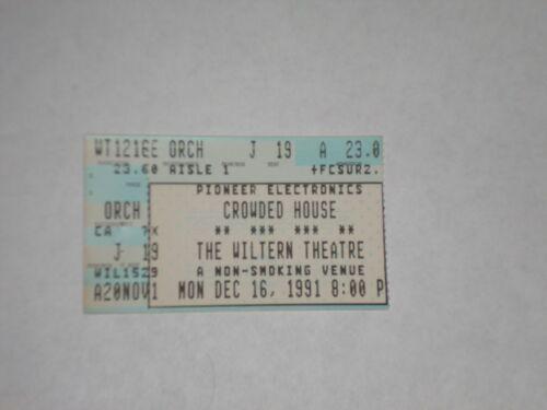 Crowded House Neil Finn Ticket Stub-1991-Wiltern Theatre-Los Angeles,CA