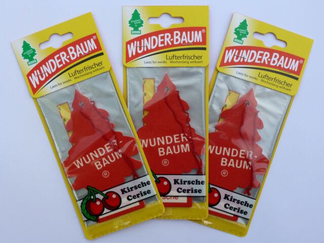 (1,33€/Einheit) 3x WUNDER-BAUM® Kirsche Duft Lufterfrischer Duftbaum Kirschduft