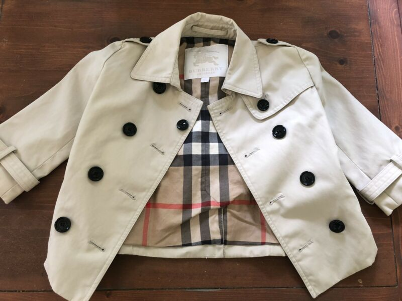 New Burberry raincoat toddler size 2Y
