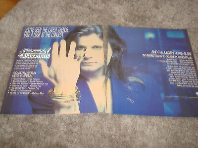OZZY OSBOURNE 1992 promo ad with pinkie nail & JOHN LEE HOOKER with guitar
