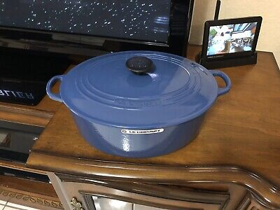 Blue Oval French Oven - Le Creuset Oval Cast Iron French Oven 6.75qt #31 Harmonic Blue(see Details)