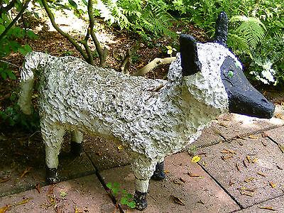 Gartenfigur aus  Beton ! UNIKAT !; SCHAF ! sign. W. Dahmen ;  ORIGINAL
