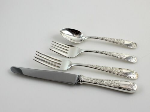 Kirk Old Maryland Engraved Sterling Silver 4 Piece Place Setting - No Monogram