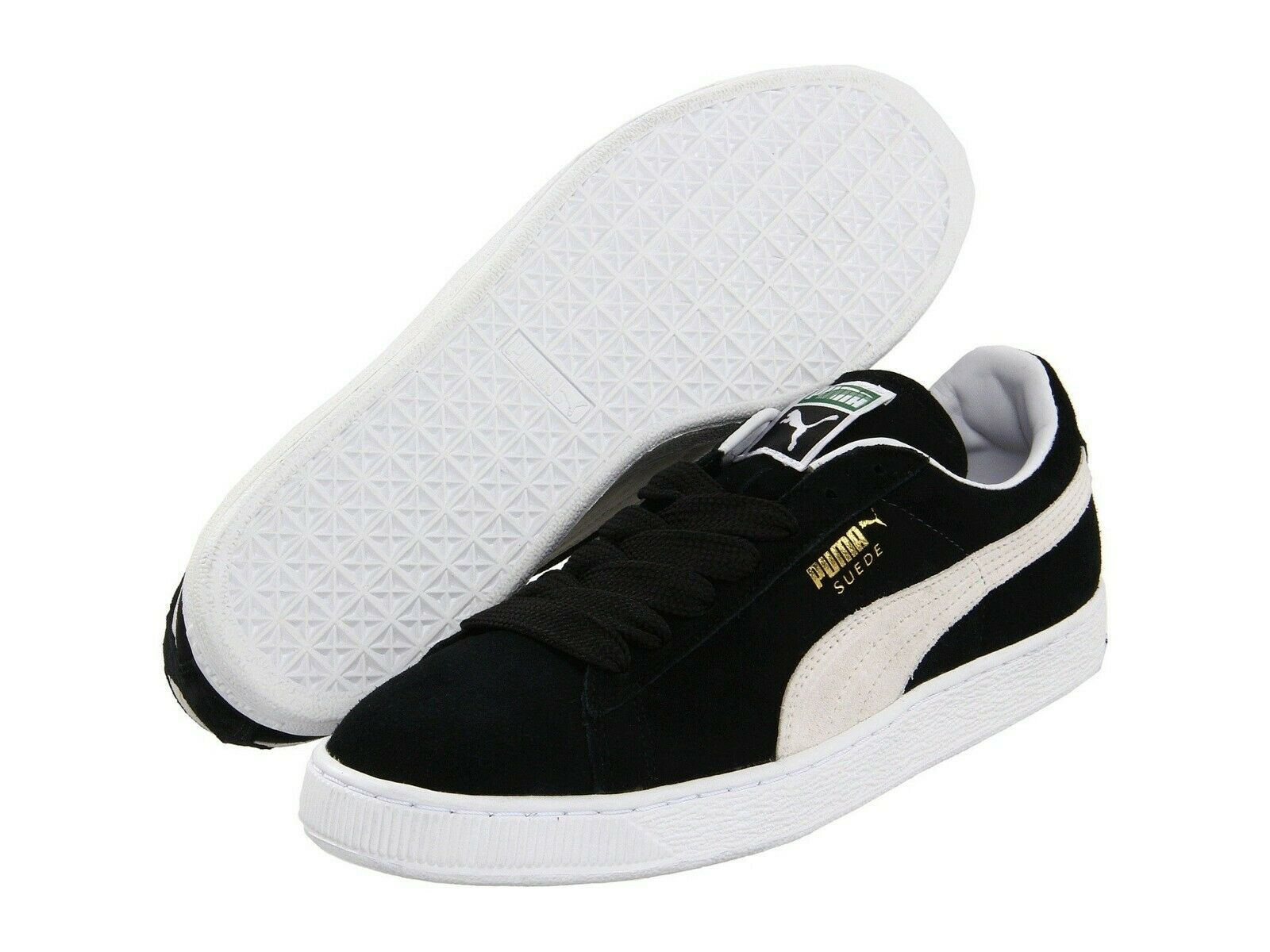 new style f44ca 6fee8 Men's Shoes PUMA SUEDE CLASSIC Casual Sneakers 352634-03 BLACK WHITE