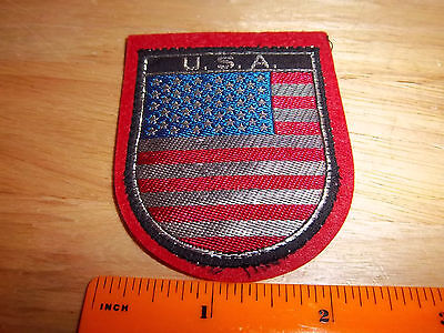 USA Flag on sheild shape, beautiful woven style Patch, great collectible (Sheild Shape)