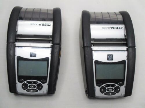 Lot of 2 Zebra QLn220 Mobile Label Printer QN2-AUGA0E00-00 without BATTERIES