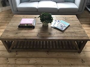 Rustic mango timber coffee table Bayside Area Preview