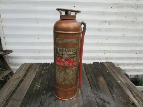 VINTAGE DIENER 2 1/2 GALLON  FIRE EXTINGUISHER GEO W. DIENER MFG CO CHI. Empty