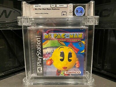 MS. PAC-MAN MAZE MADNESS WATA-CERTIFIED 9.6 A+ SEALED! SONY PLAYSTATION PS1 NEW