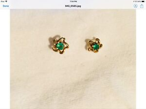 Matched emerald earrings