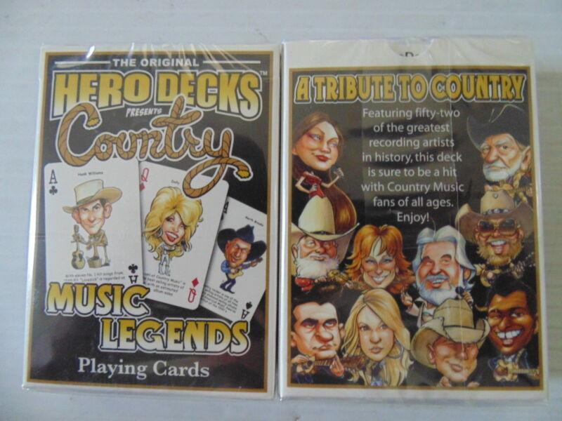 Hero Decks Country Music Playing Cards Elvis Reba Garth Underwood Chesney Parton