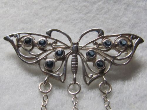 BUTTERFLY STERLING SILVER CHATELAINE - NEW