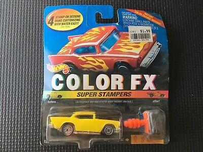 Hot Wheels '57 Chevy, Color FX, Super Stampers. 3 LEFT