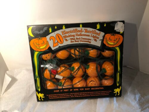 20 Halloween Pumpkin String Lights  27 ft