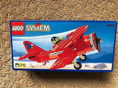 Lego System Vintage 1996 Set 6615 Red Airplane Biplane New in Box