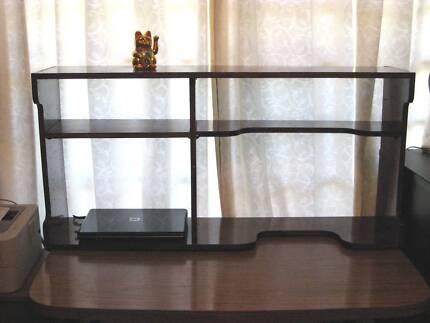 Desk Hutch Bookcase Meranti Wood 2 shelves