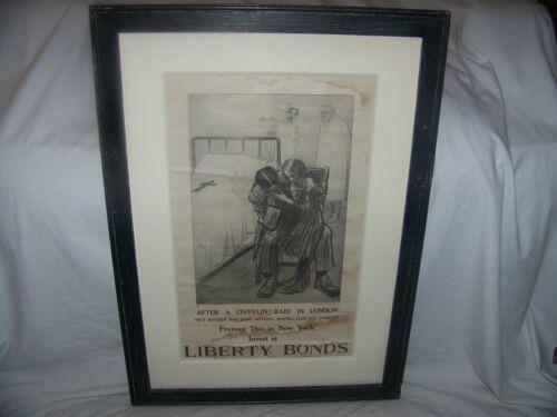 "Louis Raemaekers(1869-1956)Artist Dutch, Litho ""After a Zeppelin Raid in London"""
