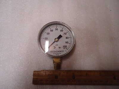 Ashcroft Pressure Gauge 436-06 0-100 Psi