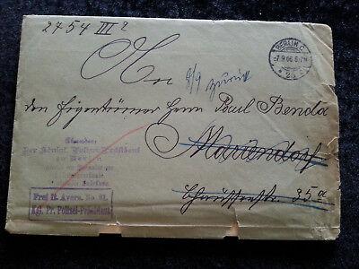 Altdeutschland Preußen -  Brief  Faltbrief  Vorphilatelie  Berlin 07.09.1906