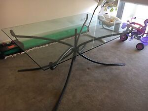 cast iron & glass top dining table Newstead Brisbane North East Preview