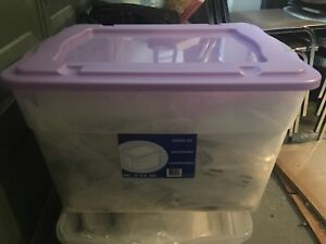 80L clear storage bins