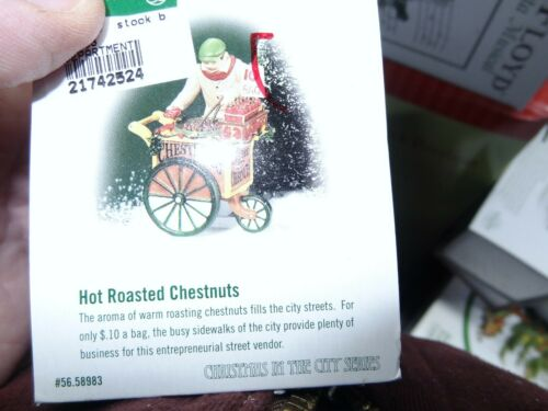 Dept 56 Christmas in the City - Hot Roasted Chestnuts #56.58983 - EUC