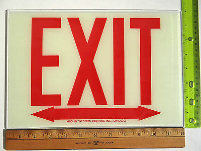 Exit Sign Replacement Glass Sz. 12 X 8 Double Arrow