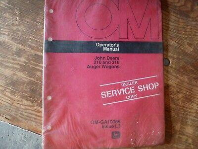 John Deere 210 310 Auger Wagon Owner Operator Maintenance Manual Om-ga10369