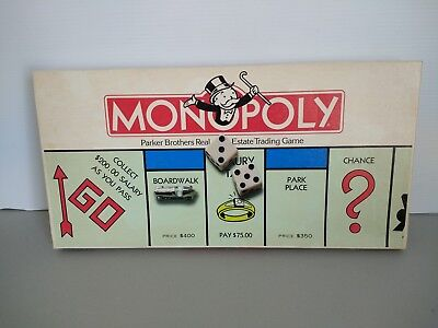 Vintage 1985 Classic Monopoly Board Game Parker Brothers Edition 0009 Complete