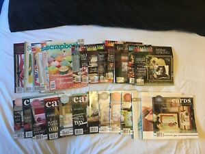 Scrapbooking and card making idea magazines.