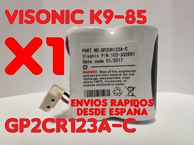 Bateria alarma Bentel VISONIC para Next Cam K9 85 PG2 6V 103-302891...