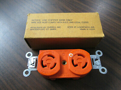 New Hubbell IG-4700 Isolated Ground Orange Duplex Receptacle (15A, 125V, 2P)