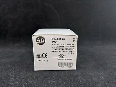 Allen Bradley 100-FA22 Auxiliary Contact Block Front Mount 2 N.O. - 2 N.C.