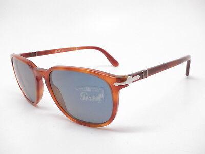 Persol PO 3019S 96/56 Terra Di Siena w/Crystal Blue Sunglasses 55mm (Persol Sunglasses 3019s)