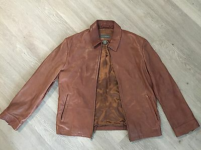 Men's Banana Republic Tan Brown Leather Jacket Coat Medium M