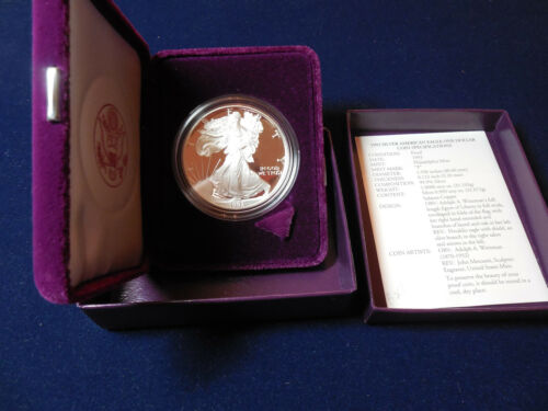 1993 Proof Silver Eagle with box and COA (pse)